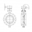 Triple Eccentric Butterfly Valve (Flanged Type)
